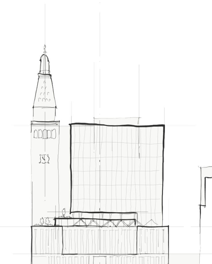 Architect Rendering of the Building