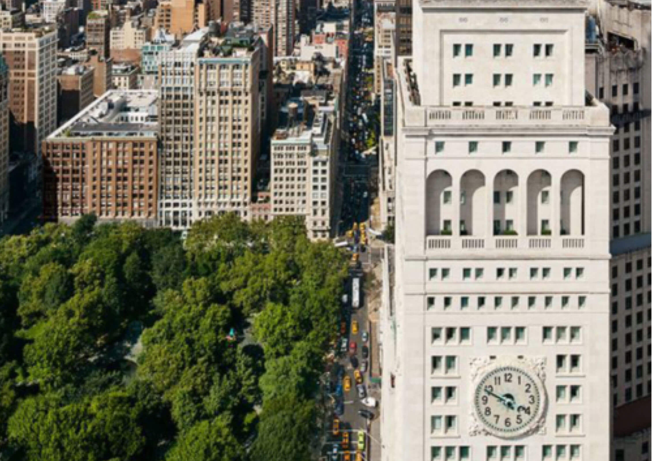 SL Green strategically sells the Clock Tower (5 Madison Avenue), which is later developed into the Edition Hotel.