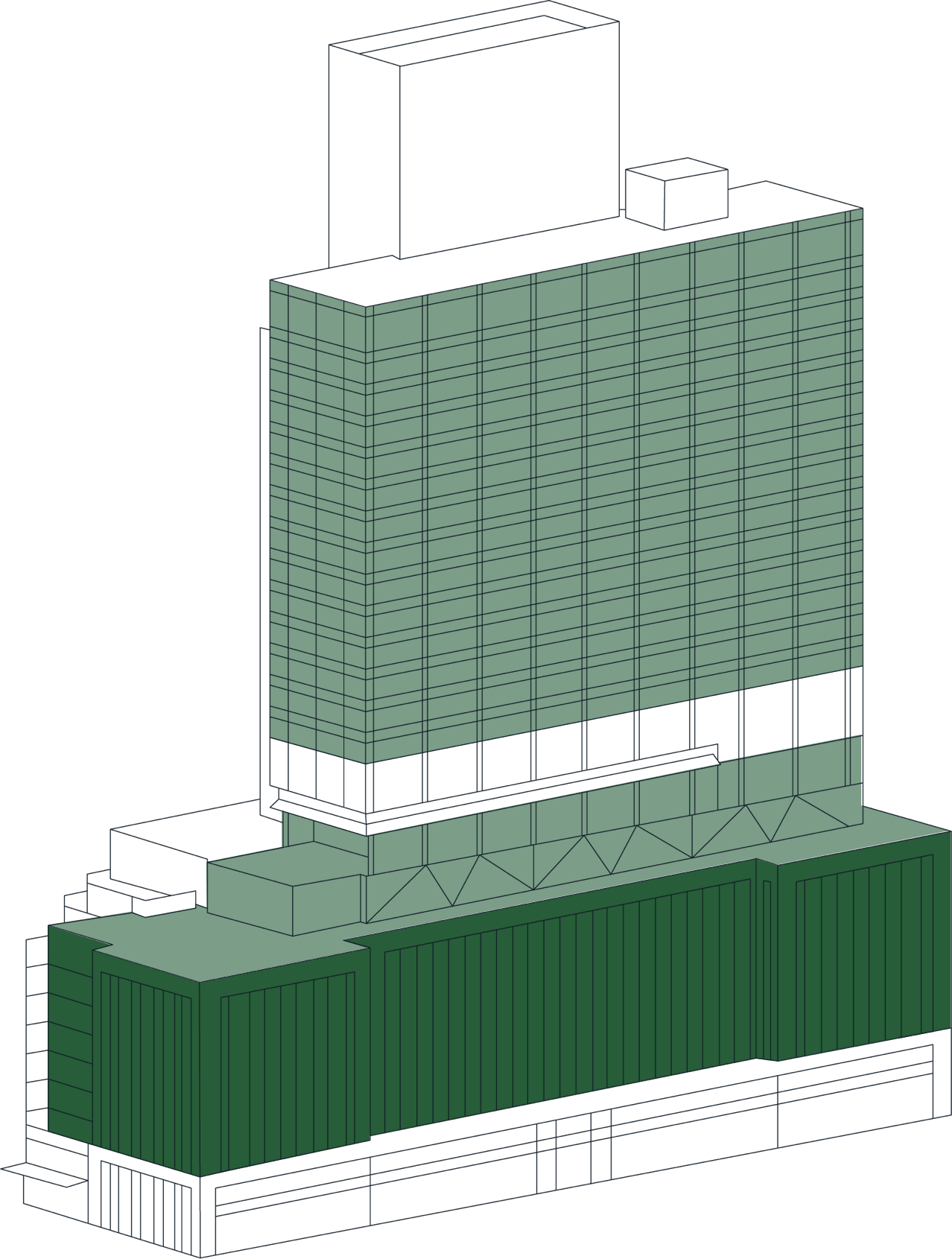 Office Space Stack Plan Podium Selected
