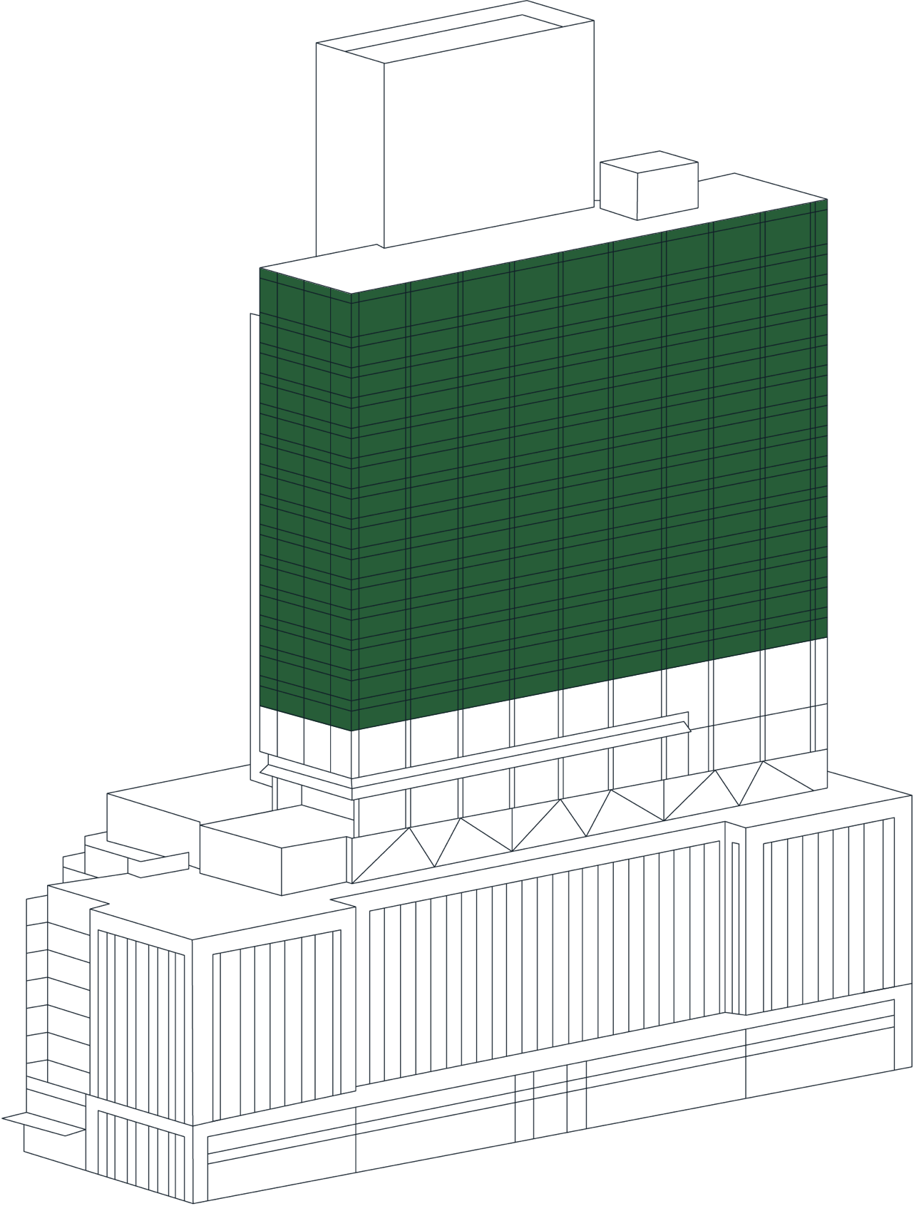 Office Space Tower Stack Plan